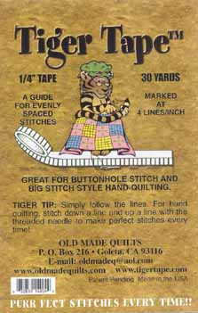 Buttonhole stitch Tiger Tape 1/4-4